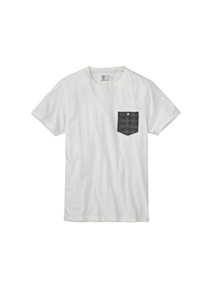 Timberland短袖印花口袋T恤 A1DUE / TWD 1,900。圖/T...