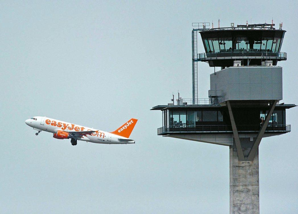 1架原本要飛往英國倫敦的廉航易捷航空公司(Easy Jet)班機,今天因機上「可...