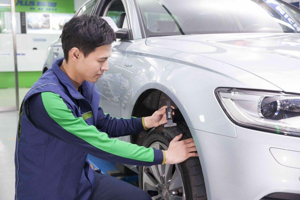 開車上路前確實檢查輪胎的胎溝深度及胎壓,絕對是確保行車安全的首要關鍵。 圖/台灣...