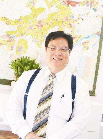 桃園航空城公司董事長張昌財。 圖,記者曾增勳攝影
