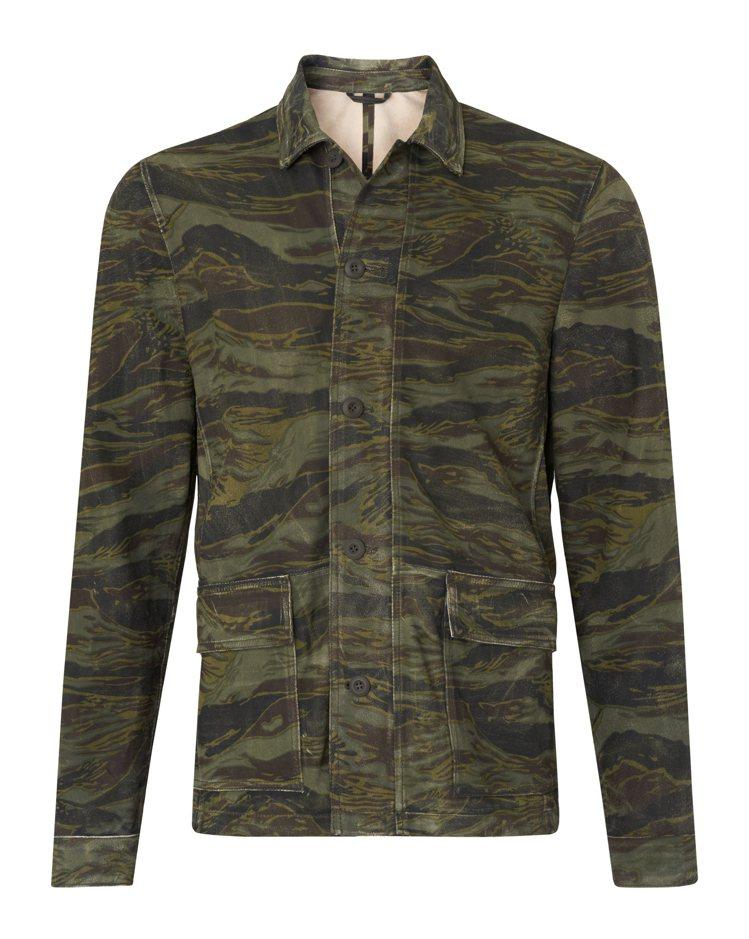 Allsaints迷彩印花襯衫式夾克,價格電洽。圖/Allsaints提供