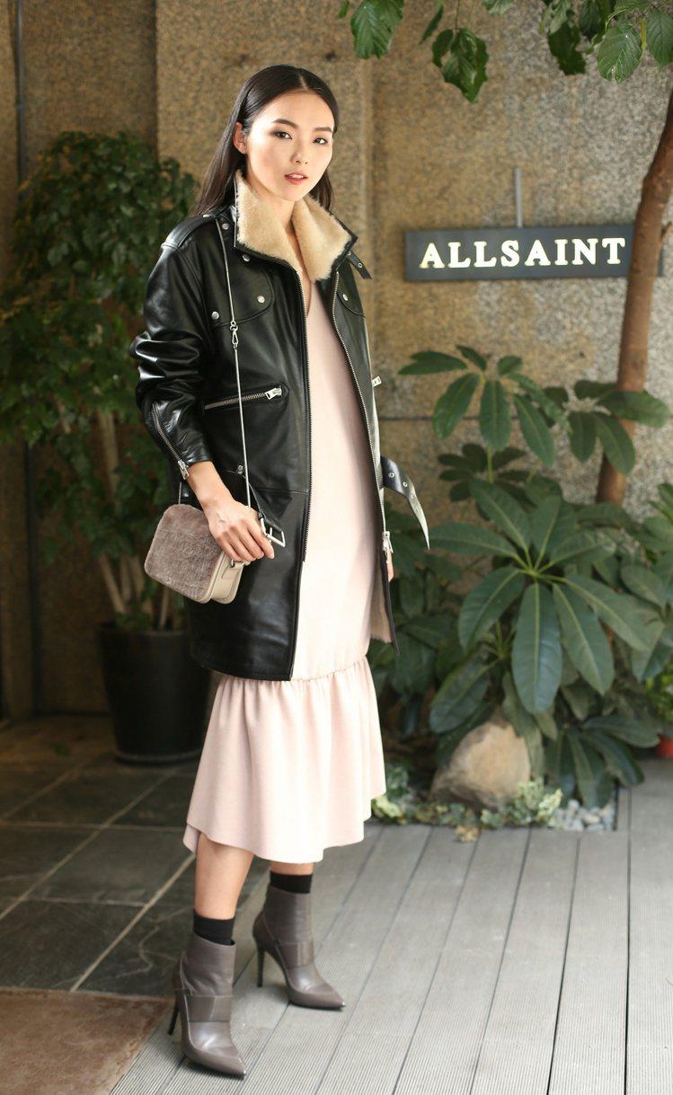 名模金禧為愛牌Allsaints詮釋今年秋冬最新服飾系列。記者陳立凱/攝影