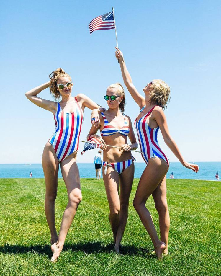 Gigi Hadid、卡拉迪樂芬妮、泰勒絲。圖/擷自instagram