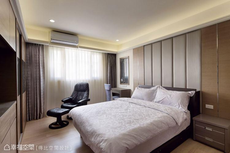 ▲臥房空間的分配上,考量夫妻兩人的睡眠品質而規劃雙主臥,以貼近實際需求的格局配置...