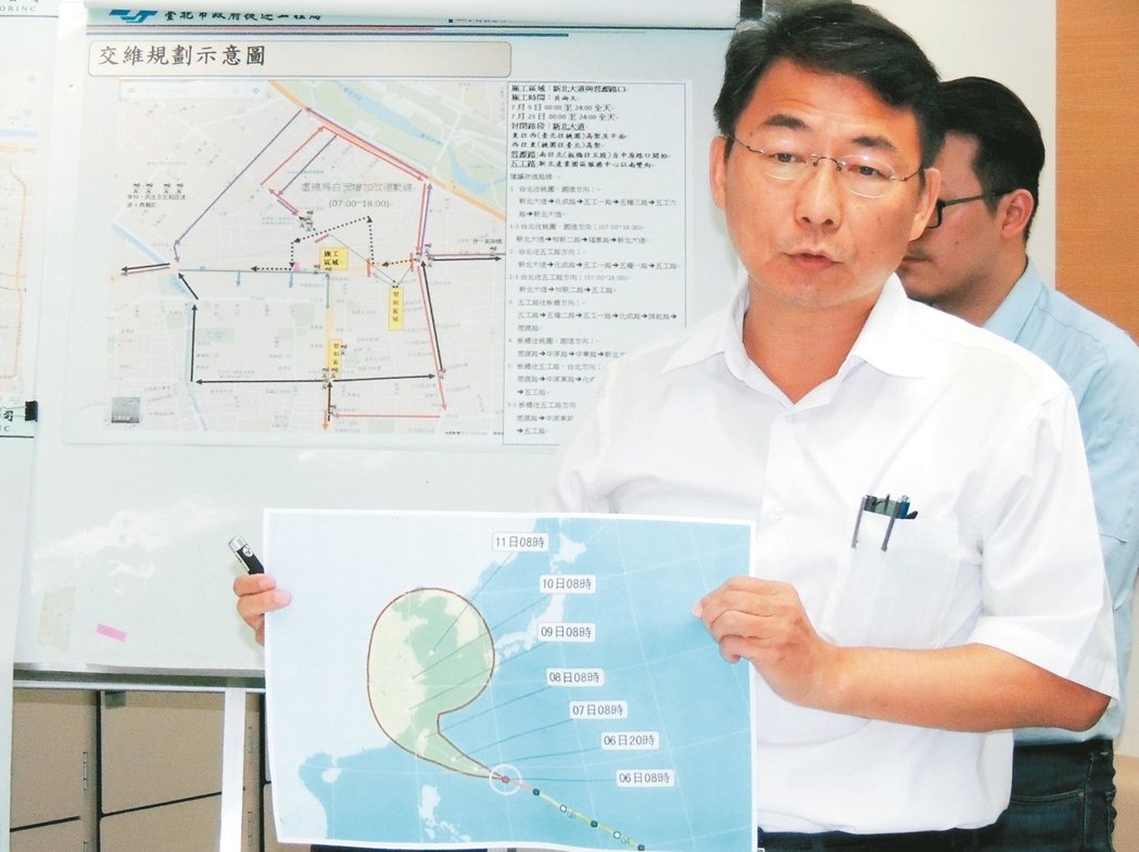 捷運環狀線9日進行吊裝鋼梁工程,部分路段將全日封閉,但若受颱風影響,工程將順延。...