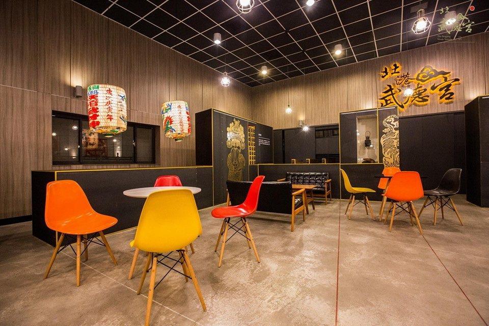 兼具傳統廟宇文化外,也提供一般咖啡廳的優閒氣氛。 摘自北港武德宮粉絲團
