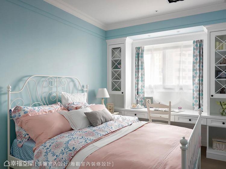 ▲夢幻風格的房間,在日光照耀下,度假味十足。