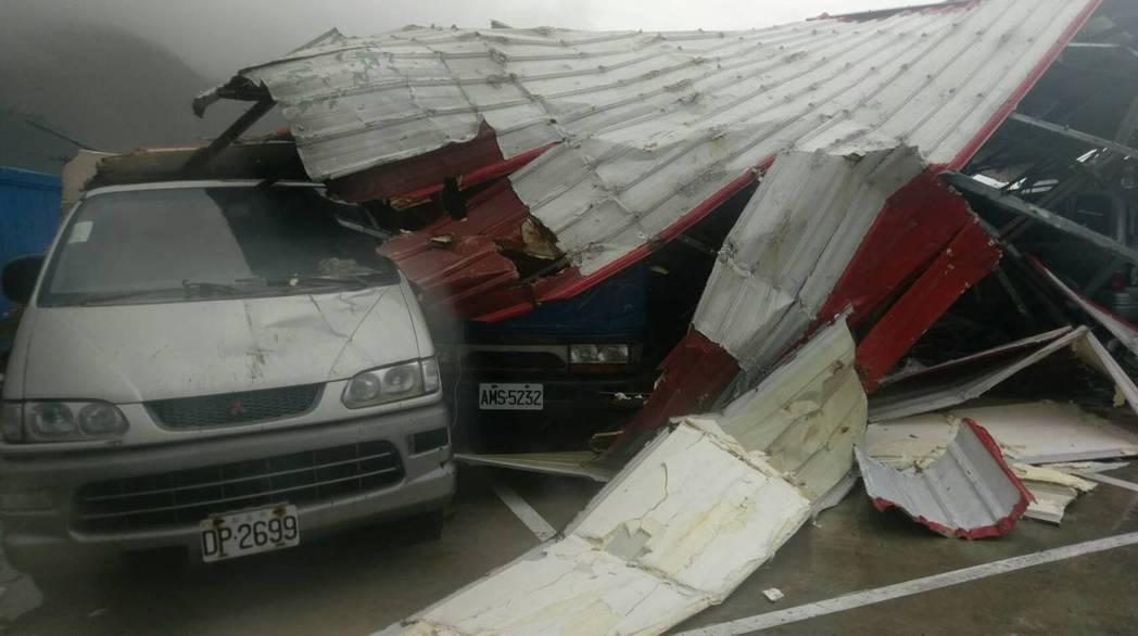 蘭嶼風災過後。照片/讀者提供