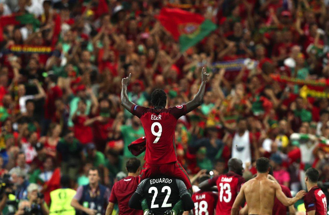 葡萄牙的奪冠英雄,埃德爾。 圖/美聯社