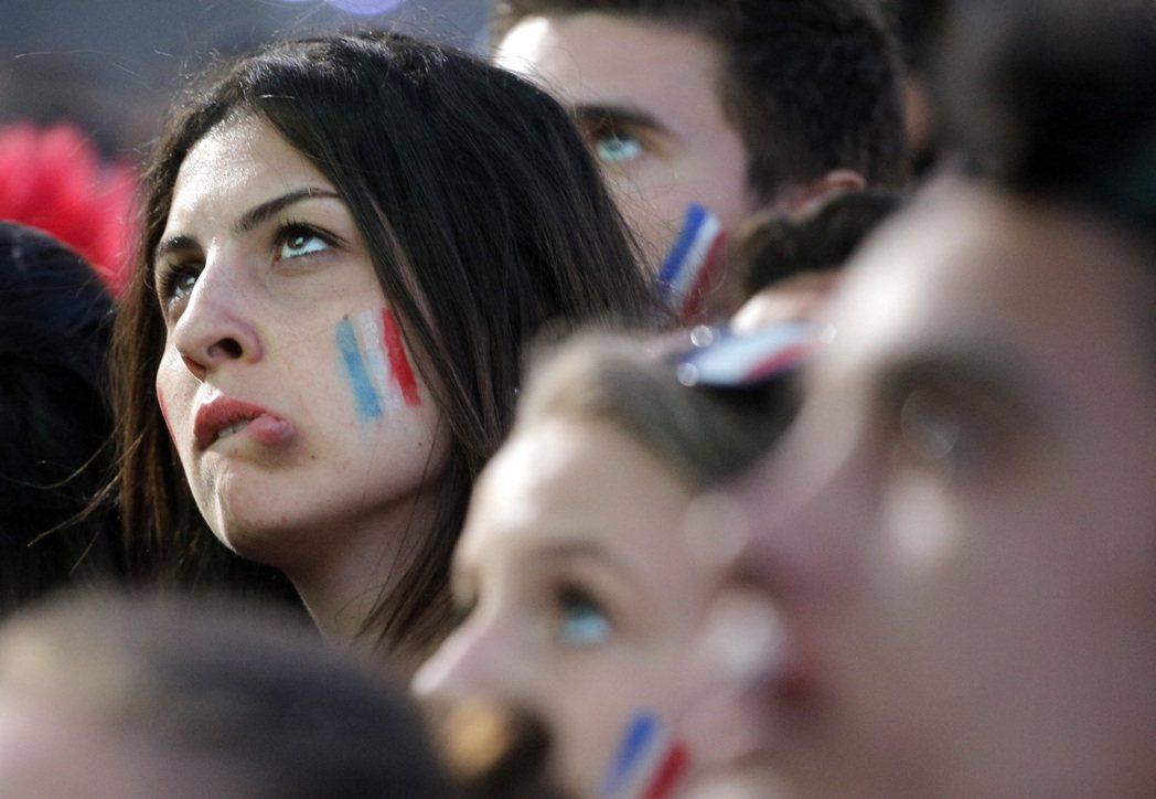 失望的法國球迷。 圖/美聯社