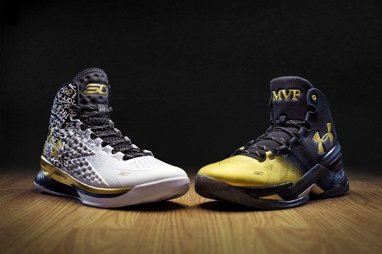UA為慶祝柯瑞拿下MVP ,設計「CURRY PACK」新鞋款。圖/UNDER ...