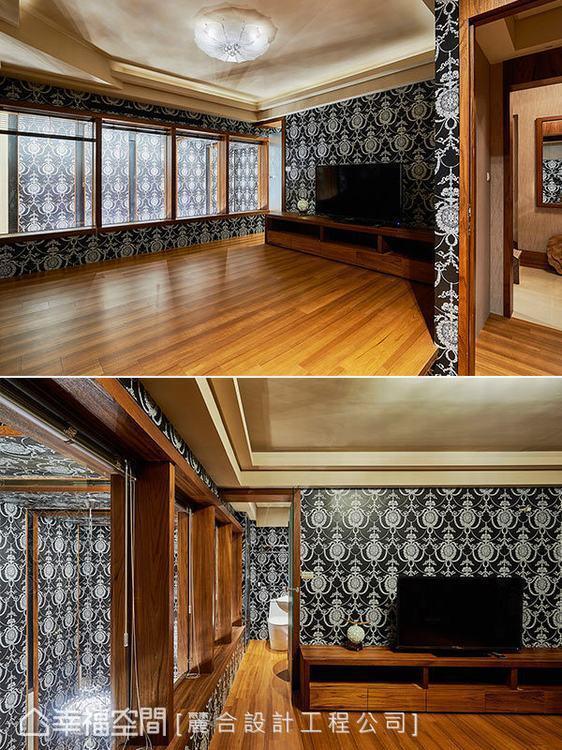 ▲和室:對比強烈的視覺設計從卡拉ok室持續蔓延到上方的和室空間裡,引出英倫的獨特...