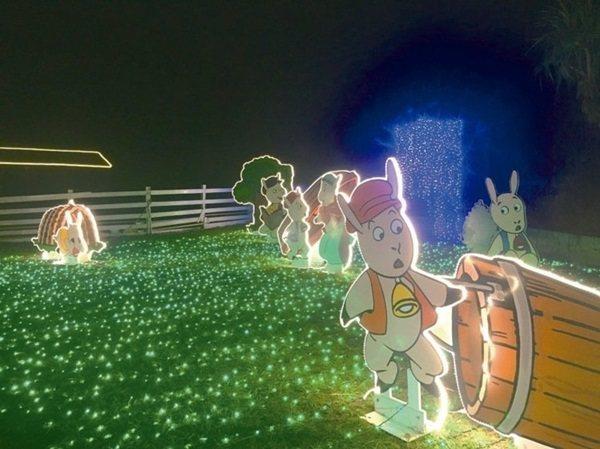 小墾丁渡假村今年暑假推出「童話光雕」活動,是墾丁首座大型光雕園區。 圖/南仁湖企...