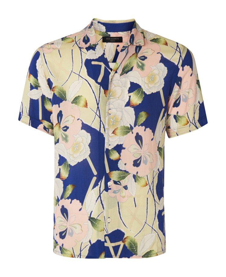 Allsaints扶桑花短袖襯衫,5,900元。圖/Allsaints提供