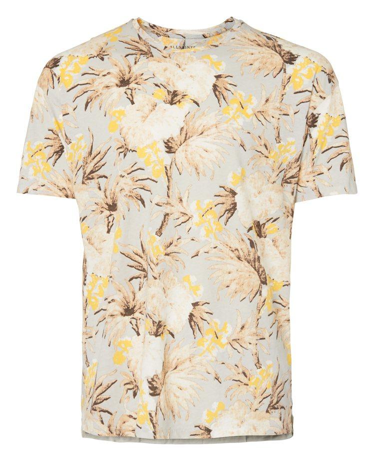 Allsaints奶油色印花短袖T恤,2,900元。圖/Allsaints提供