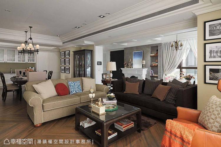 ▲客廳:刻意不成套的家具選搭,營造內斂有味道的生活感。