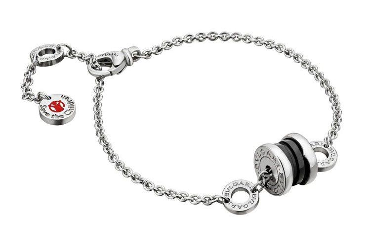 B.zero1 Save The Children新款,純銀與黑色陶瓷手環,約1...