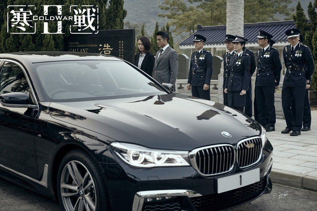 BMW 7系列與男主角郭富城。 圖/汎德提供