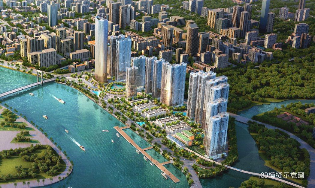 西貢河第一排千米河岸景觀的頂級住宅案「Golden River」