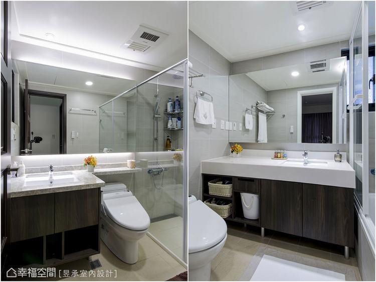 ▲衛浴設備經過評估,檢視這些設備符合使用需求後,建議屋主繼續使用建商所提供的設備...