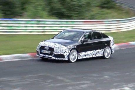 Audi四門RS3密集測試中 對手直指CLA45 AMG