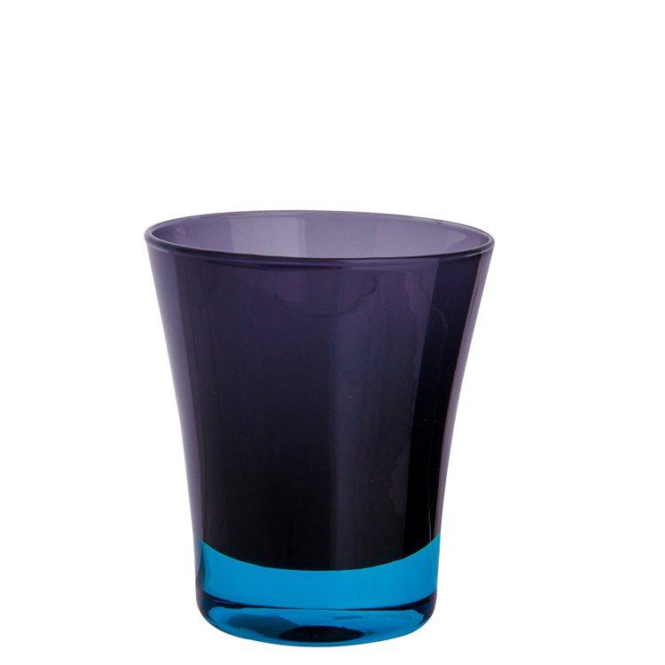 HOLA home漸色手工玻璃水杯黑配淺藍,創造時尚感。