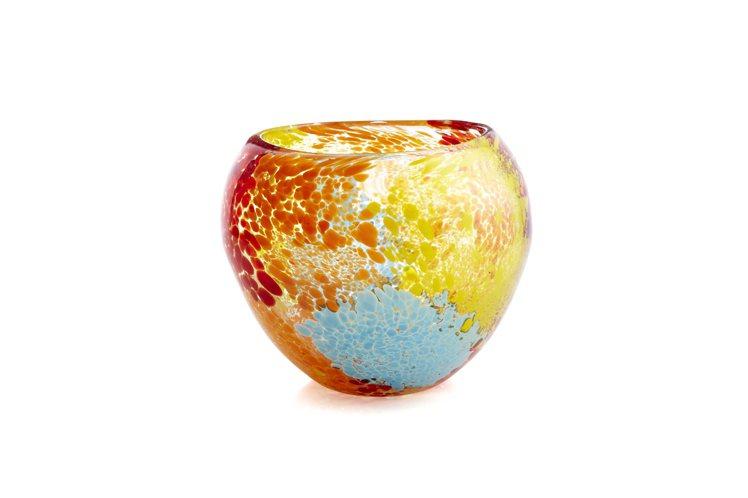 CRATE&BARREL Confetti玻璃花器,顏色繽紛撞色如萬花筒般令人目...