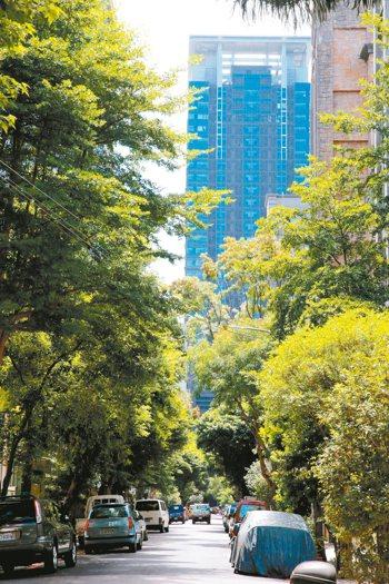 新店中央新村旁14張重畫區,中央新村街景。 記者黃義書/攝影