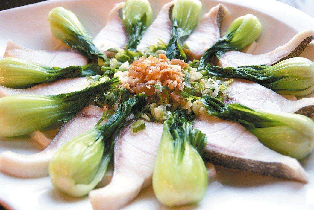 梅丁菜根香海鱺魚腹