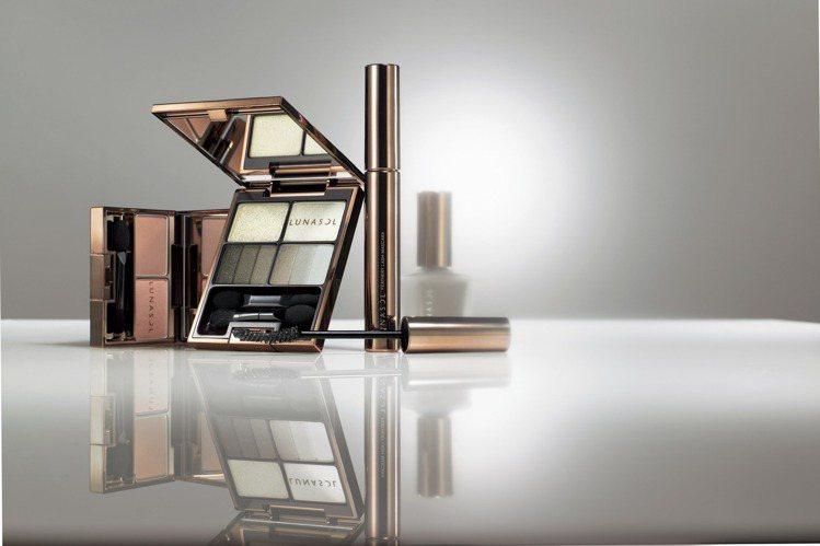 佳麗寶LUNASOL「羽薰淨化」系列可輕鬆塑造漸層微煙熏眼妝。圖/佳麗寶提供