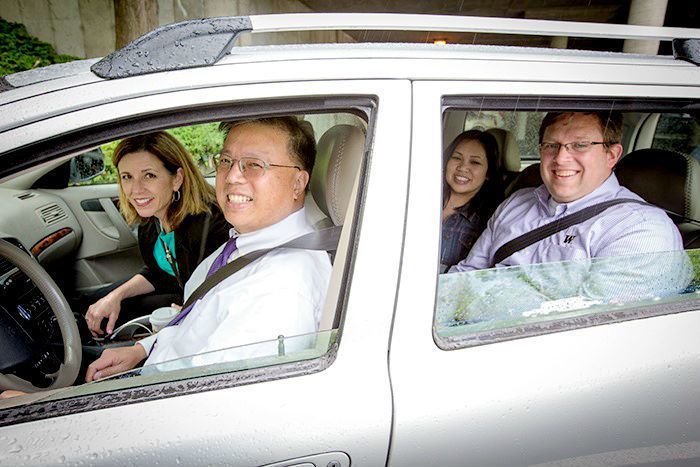 西雅圖及該市所在的美國華盛頓州,以共乘停車位與高乘載車道鼓勵自用車共乘。  圖/University of Washington
