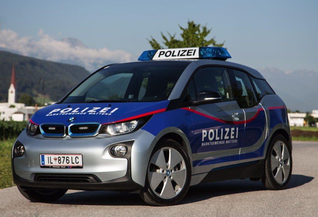 奧地利警方的BMW i3警車。 摘自carscoops.com