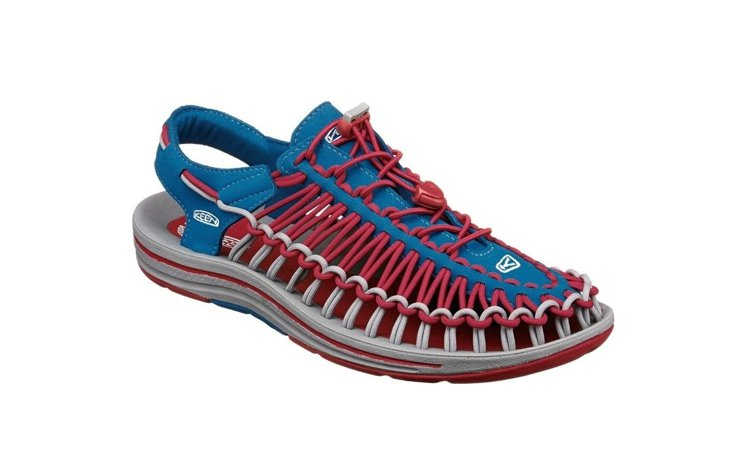 KEEN推出與日本潮牌聯名的UNEEK鞋,融入撞色元素,3,280元。圖/KEE...