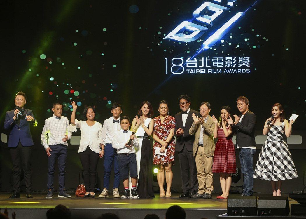 本屆台北電影節由「只要我長大」拿得百萬首獎。 攝影/楊萬雲