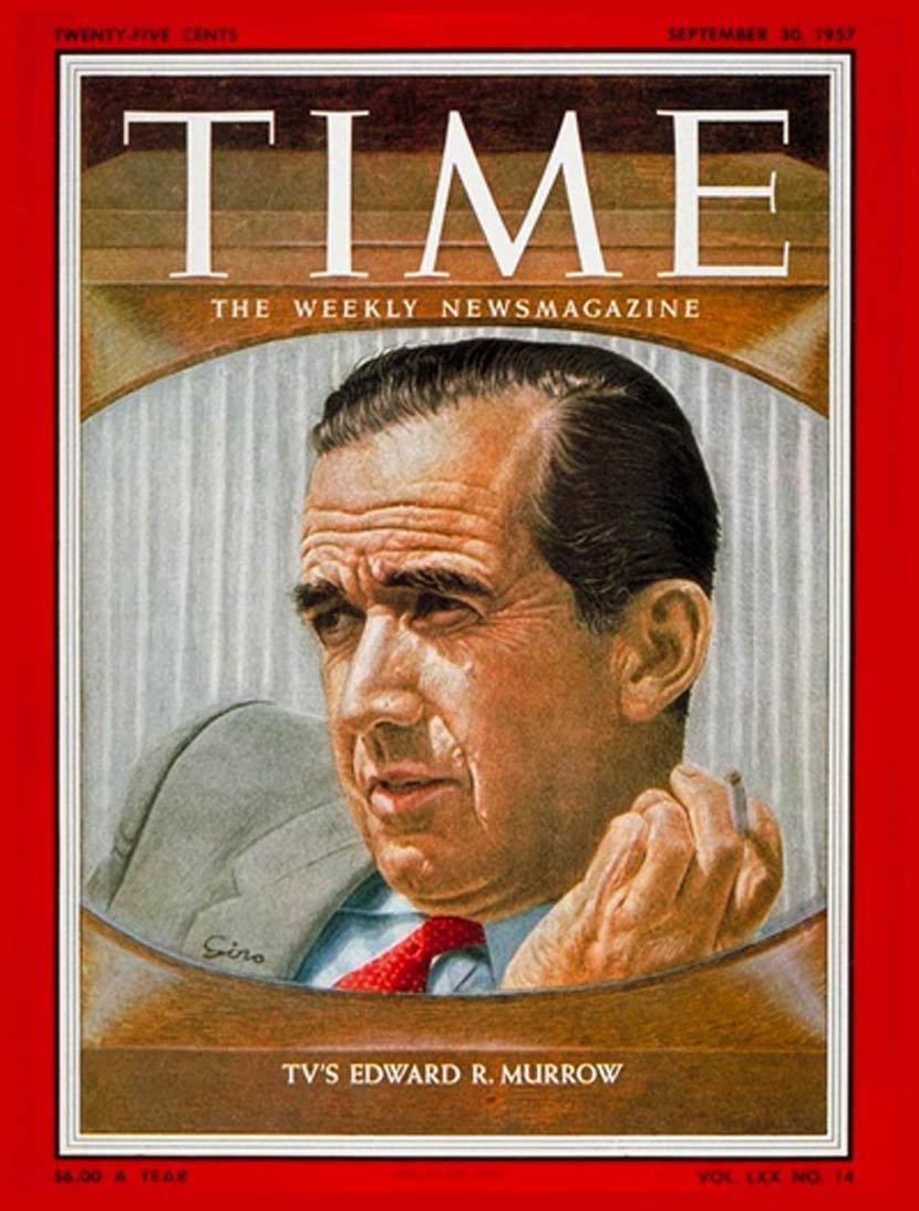 TIME雜誌1957年9月30日封面人物:晚安,祝你好運,我是CBC當家主持人愛...