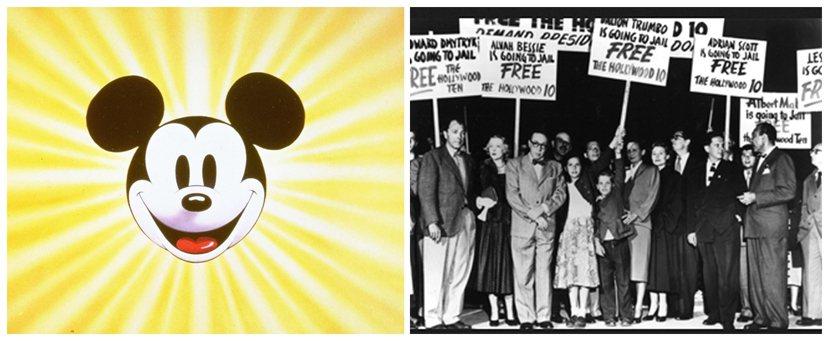 自我審查風潮下,迪士尼展現高度意願配合反共宣傳(左),但對無端被貼上「好萊塢十君...