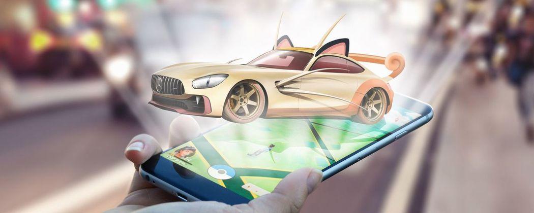 喵喵 & Mercedes-AMG GT R。 摘自carwow.co.uk