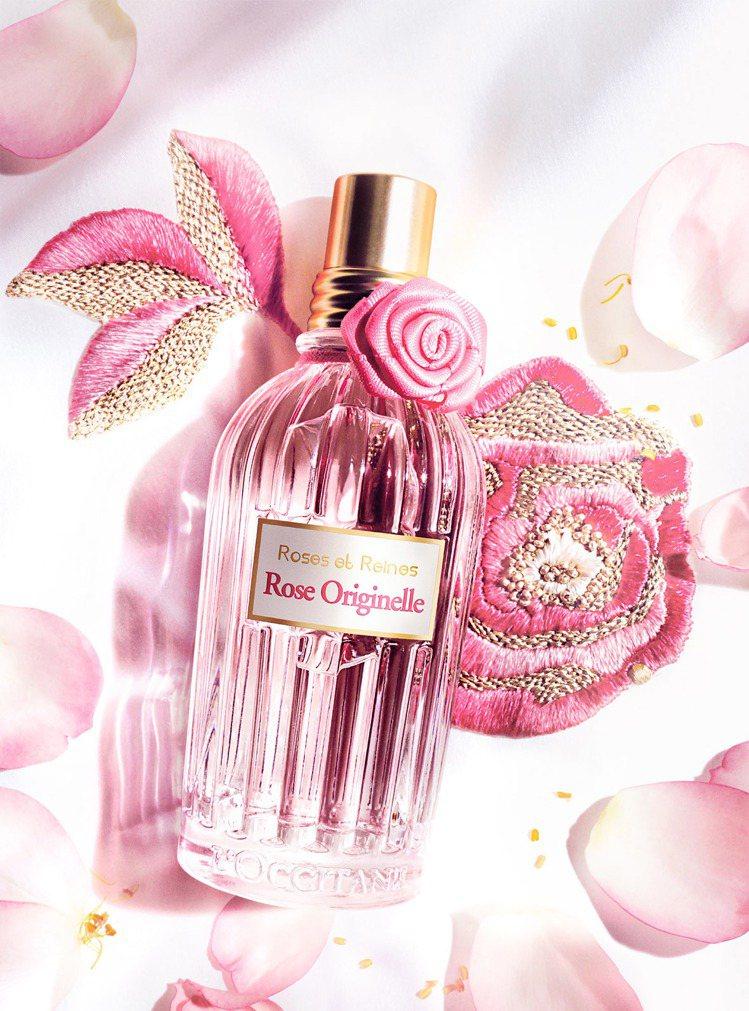 L'OCCITANE 玫瑰花繡淡香水,75ml/2,080元。圖/歐舒丹提供