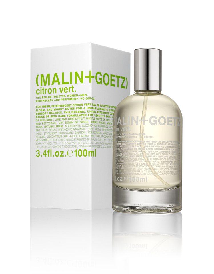 MALIN+GOETZ青檸淡香水,清新活力的柑橘調,結合茉莉、大黃、白雪松、麝香...