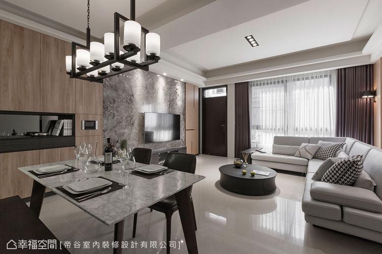 ▲公領域:開放式的格局設計,讓客廳和餐廳串連一氣,形成開闊明亮的場域。