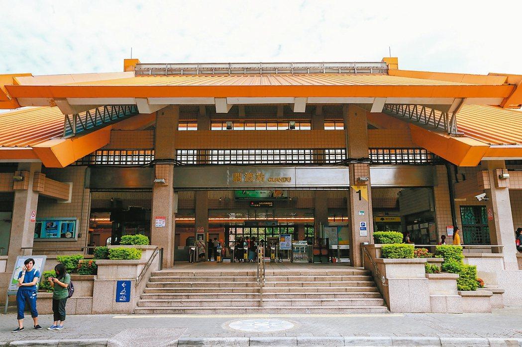 關渡捷運站屬於價格親民的台北市門牌。 記者林伯東/攝影