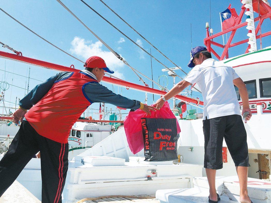 屏東漁民自主發起的護島行動,預計最快今天傍晚可以抵達太平島。 報系資料照片