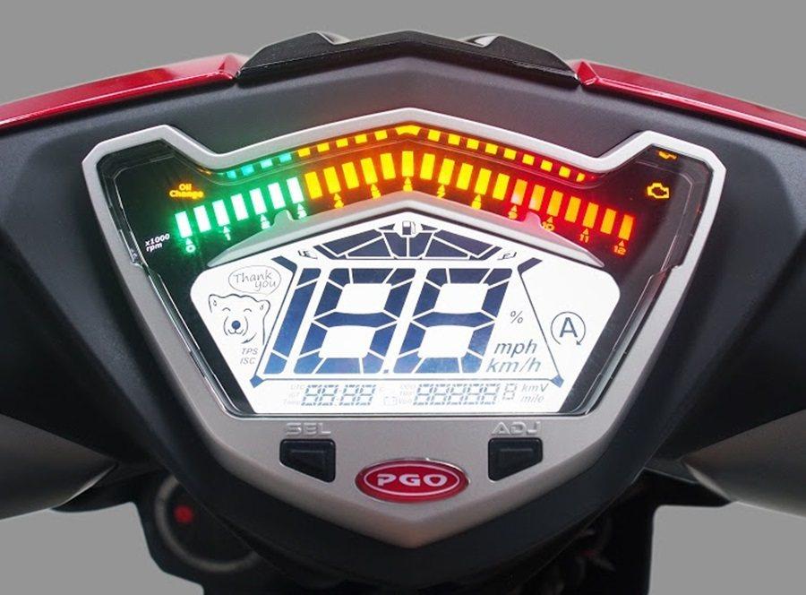 大型顯示多功能液晶儀表。 PGO提供