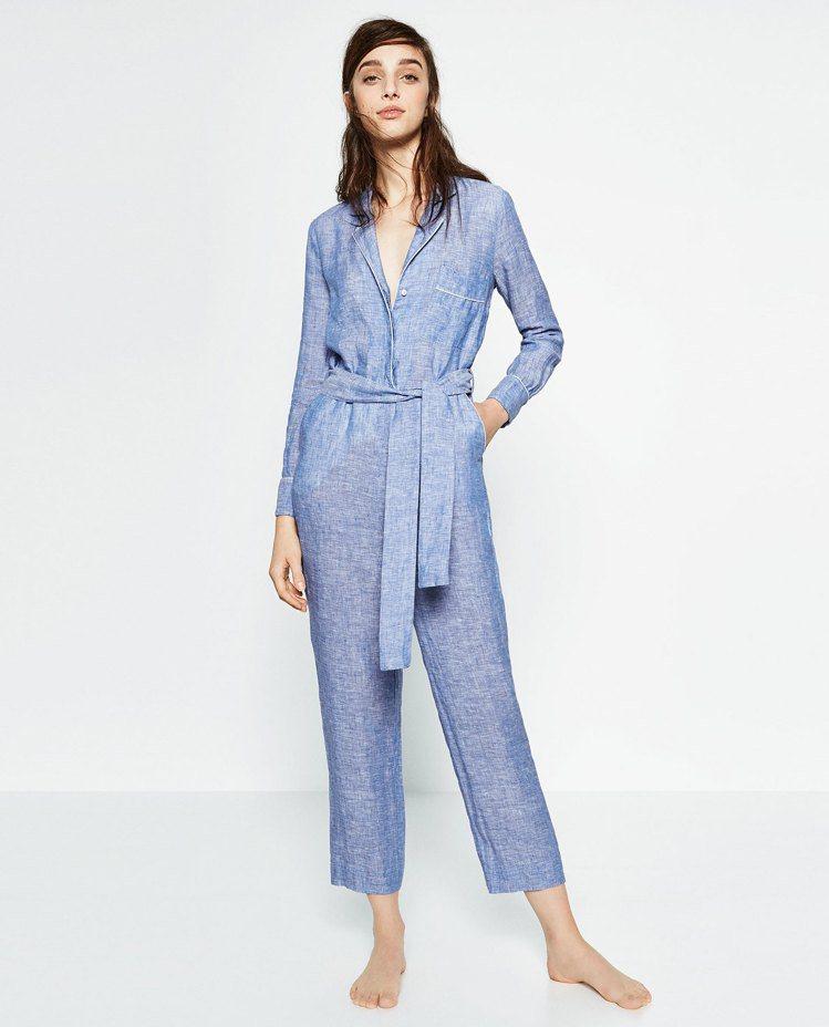 Zara亞麻連體褲 參考價格:399CNY