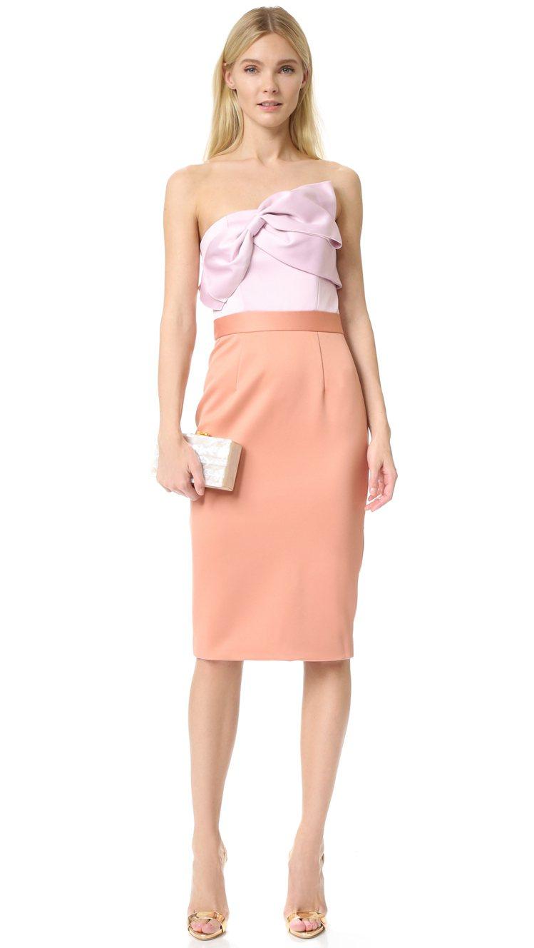 編輯推薦款: Cynthia Rowley無肩帶蝴蝶結連衣裙 參考價格:2,...