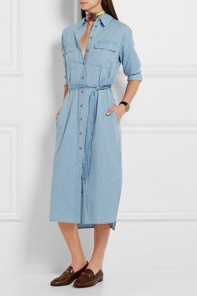 編輯推薦款: Equipment牛仔襯衫裙 參考價格:2,000CNY