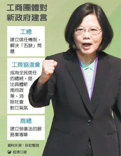 工商團體對新政府建言 圖/經濟日報提供