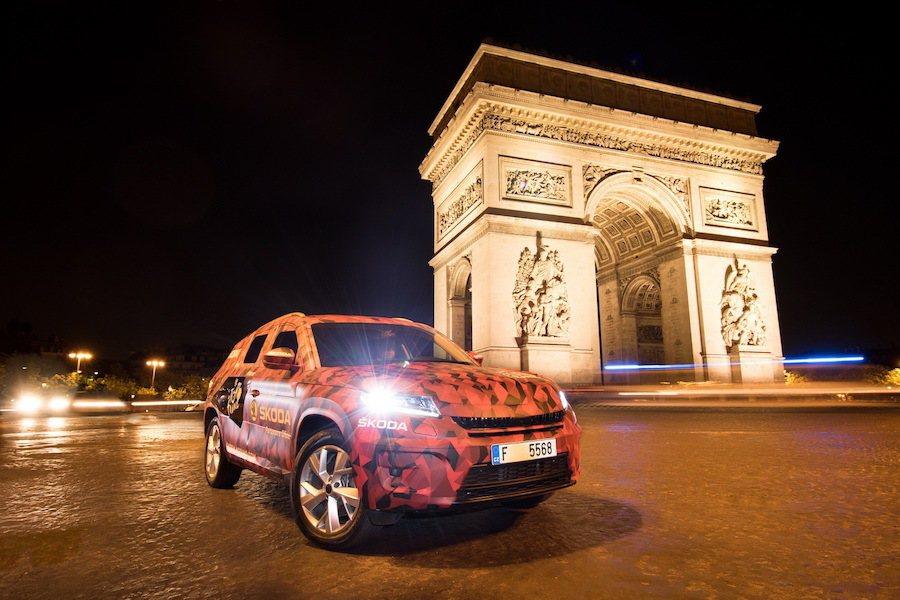 Kodiaq同時也在巴黎個景點拍攝宣傳照。 Skoda提供