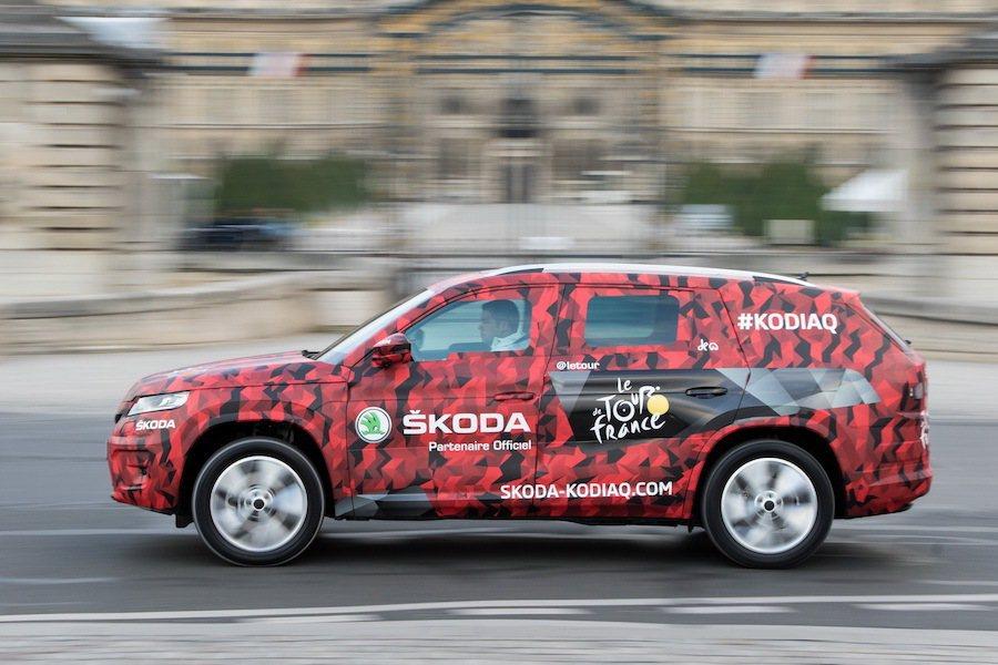 這輛Kodiaq用另外一種方式進行宣傳與偽裝。 Skoda提供