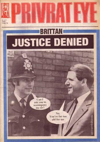英國老牌雜誌《Private Eye》嘲諷被掩蓋的政客性虐兒醜聞:「Sir,我可...